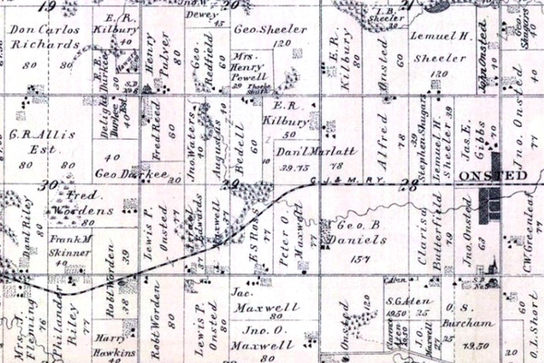 1893 Cambridge Township W RR on WoodensOnline